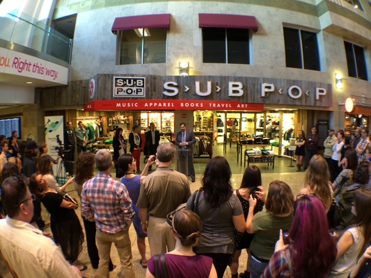Sub pop airport store business is taking off in sub pop for Door 00 seatac airport