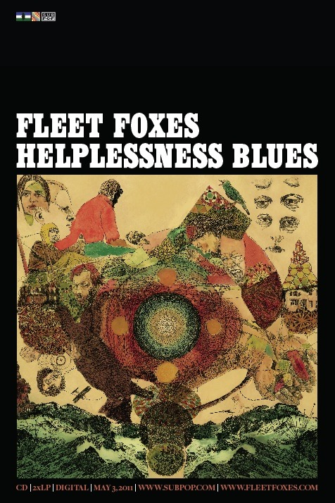 Fleet Foxes Helplessness Blues Cover Poster | Sub Pop Mega ...