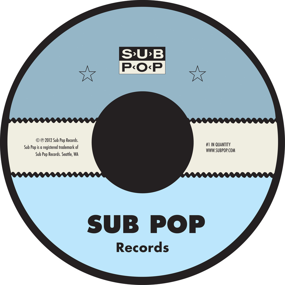 Sub Pop Sub Pop Label Slipmat Sub Pop Mega Mart