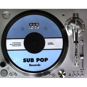 Sub Pop Sub Pop Label Slipmat Sub Pop Mega Mart
