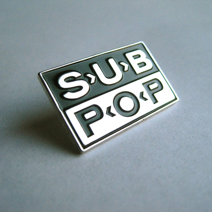 Sub Pop Logo Lapel Pin Sub Pop Mega Mart