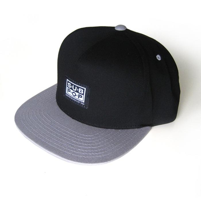 Sub Pop Sp Logo Baseball Hat Black W Grey Bill Sub Pop