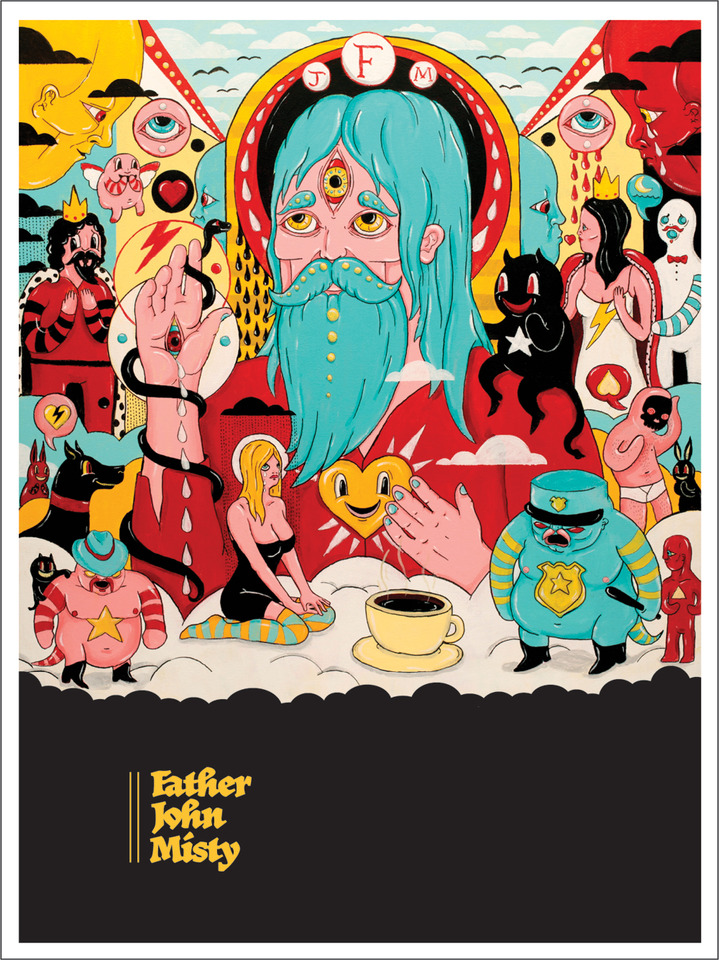 Father John Misty Fear Fun Poster Sub Pop Mega Mart