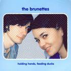 Thebrunettes holding handsfeeding ducks