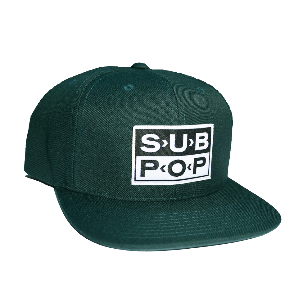 130bb5934e0 Sub Pop Green Logo Snapback Hat