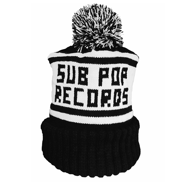Sub Pop Sub Pop Records Knit Hat Black White Sub Pop