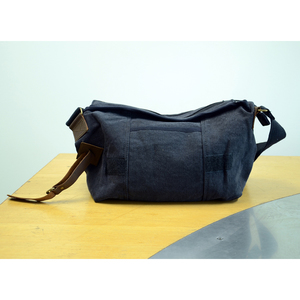 Sub Pop Messenger Bag Canvas And Leather Black Sub Pop