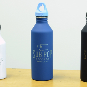 Sub Pop Sub Pop Water Bottle White Sub Pop Mega Mart