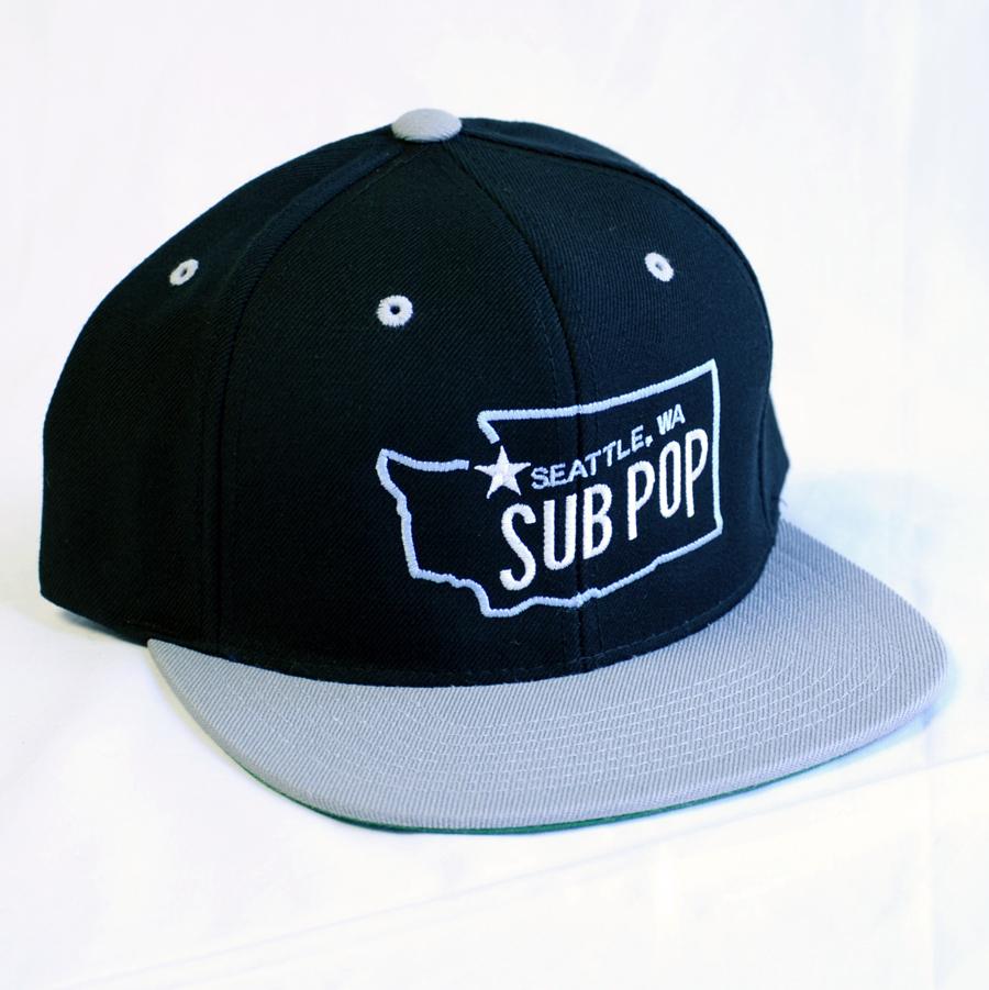 Sub Pop Sub Pop Washington State Hat Black Sub Pop Mega Mart