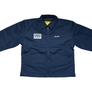 Sub Pop Gas Station Jacket Navy Sub Pop Mega Mart