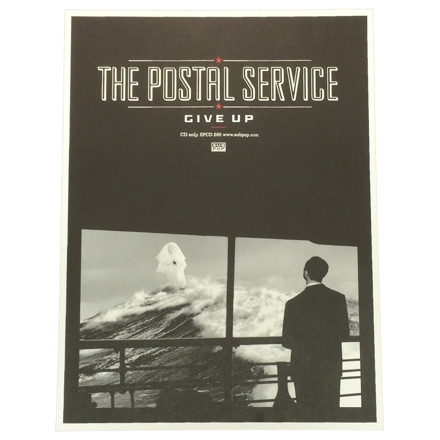 Post Service: The Postal Service Give Up Poster