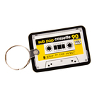 Yellowcassettekeychain