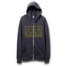 Hoodie zip logo heatherblackwyellow