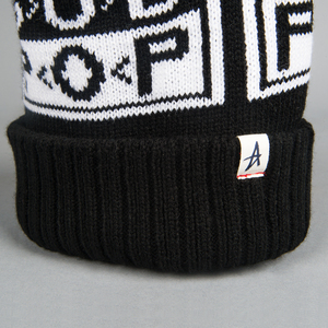 Sub Pop Altamont X Sp Logo Knit Hat Black W White Pom