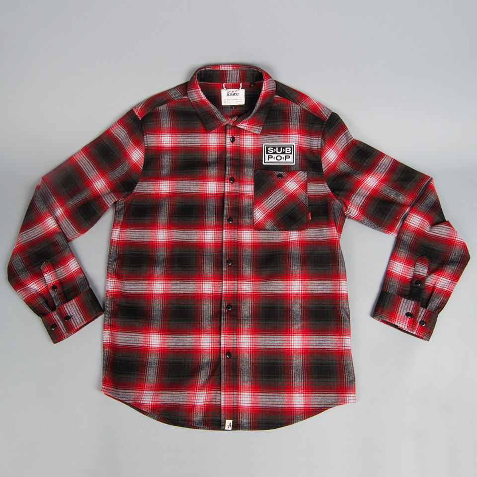 Sub Pop Altamont X Sp Flannel Logo Patch Red Black Sub