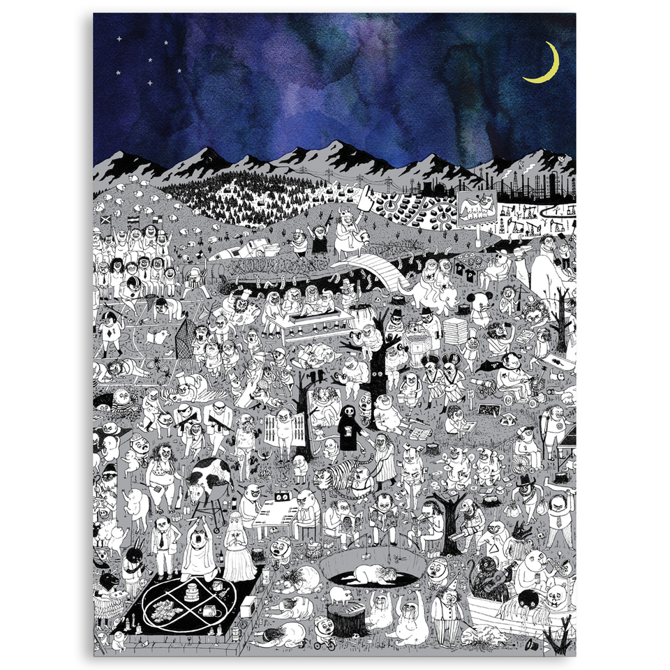 Father John Misty Pure Comedy Poster Sub Pop Mega Mart