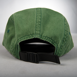 Hat colorblock green logo back