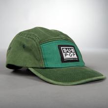 Hat colorblock green logo side