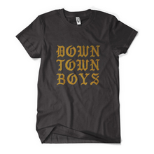 Downtownboys goldblockletters black mm