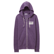 Sub pop ziphoodie logo purplewhite