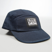 5panel hat navy smalllogopatch profile
