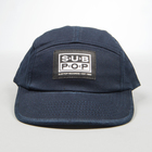 5panel hat navy smalllogopatch front