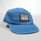 5panel hat slateblue smalllogopatch profile