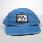 5panel hat slateblue smalllogopatch front