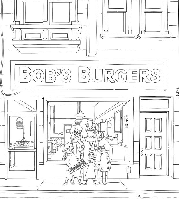 Bob S Burgers The Official Bob S Burgers Coloring Book