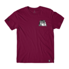 Girl sub pop stacked tee cardinal front