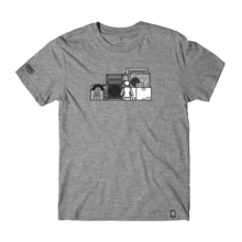 Girl sub pop shelf triblend tee heather gray