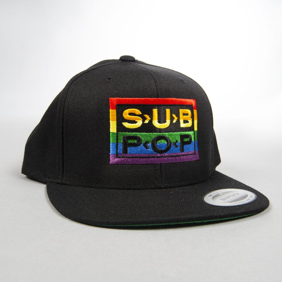 e308a986756 Sub Pop Rainbow Logo Black Snapback Hat