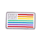 Subpop patch logo rainbow solo