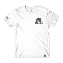 Girl sub pop stacked tee white front