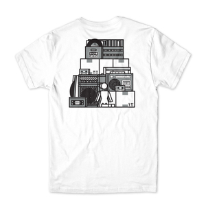 Girl sub pop stacked tee white back