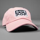 Subpop hat logo pink