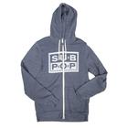 Subpop hoodie logo heatherblue 05