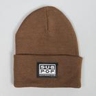 Subpop beanie logo brown 01 1500x1500