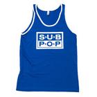 Subpop tanktop logo blue 01