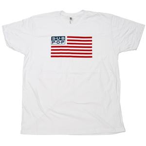 Subpop tshirt flag white 01
