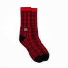 Subpop socks redplaid 02