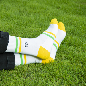 Subpop socks greenandyellow 01