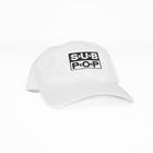 Subpop hat logo white 01