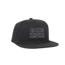 Subpop hat logo blackonblack 01