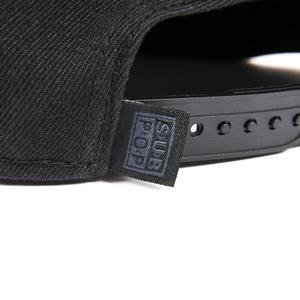Subpop hat logo blackonblack 02