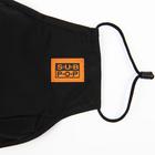 Subpop facemask logo blackandorange 02