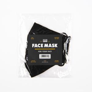 Subpop facemask logo blackandorange 03